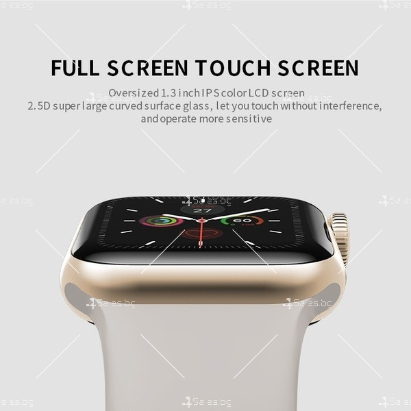 Смарт часовник W98 с HD touch screen и измерване на температурата SMW54 8
