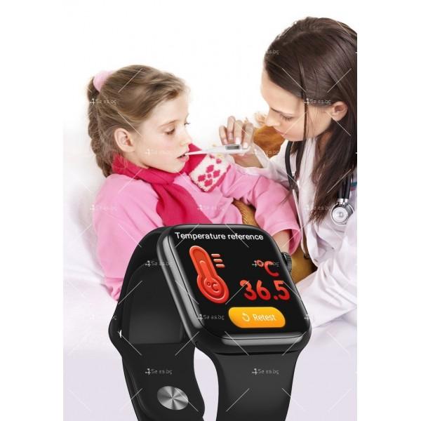 Смарт часовник W98 с HD touch screen и измерване на температурата SMW54 17