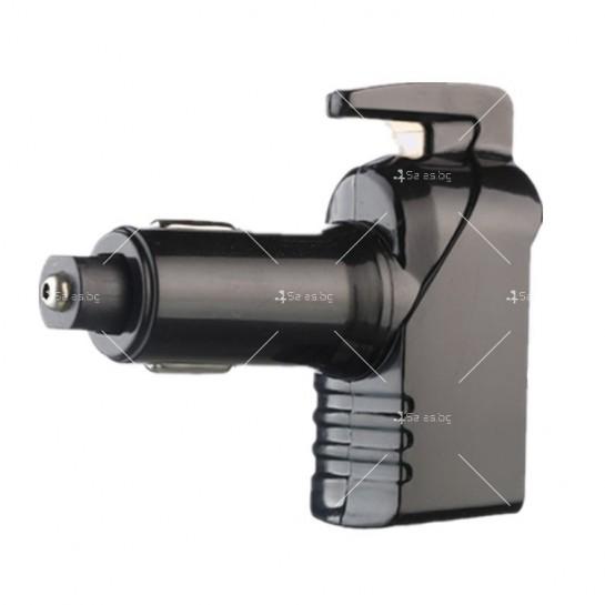 Инструмент за аварийно бягство, нож за рязане на колан и двойно USB зарядно TV601