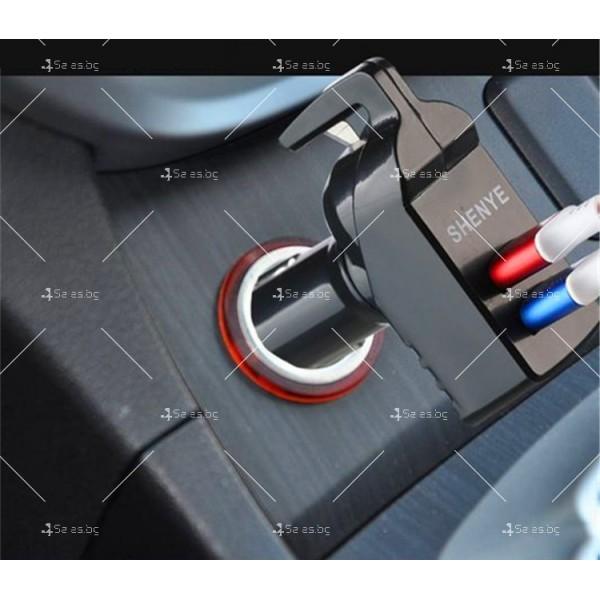 Инструмент за аварийно бягство, нож за рязане на колан и двойно USB зарядно TV601 2