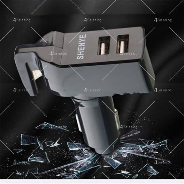 Инструмент за аварийно бягство, нож за рязане на колан и двойно USB зарядно TV601 4