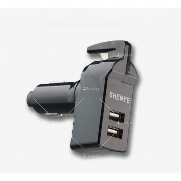 Инструмент за аварийно бягство, нож за рязане на колан и двойно USB зарядно TV601 6