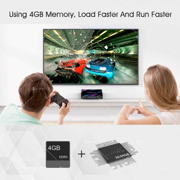 Смарт TV бокс TVBOX H96 MAX, RK3318, Android 10.0, 4K, Wi-Fi 3