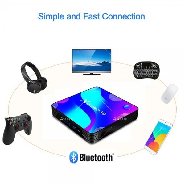 Смарт TV бокс X88 pro10 Android 10.0, четири-ядрен HD плейър, HDMI, Wi-Fi, WLan 1