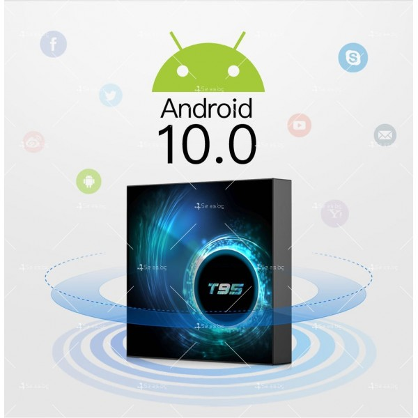 ТВ смарт бокс декодер T95 6К, Android 10.0, H616, Wi-Fi 3