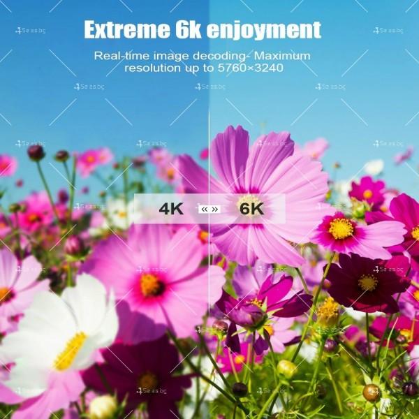 Смарт TV декодер T95 4G+128G, Android 10.0, Allwinner H616, 6K HD, мултиплейър 3