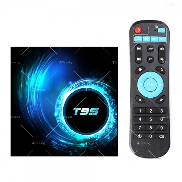 Смарт TV декодер T95 4G+128G, Android 10.0, Allwinner H616, 6K HD, мултиплейър 4