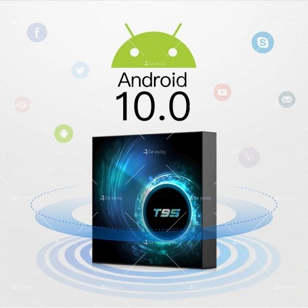 Смарт TV декодер T95 4G+128G, Android 10.0, Allwinner H616, 6K HD, мултиплейър 5