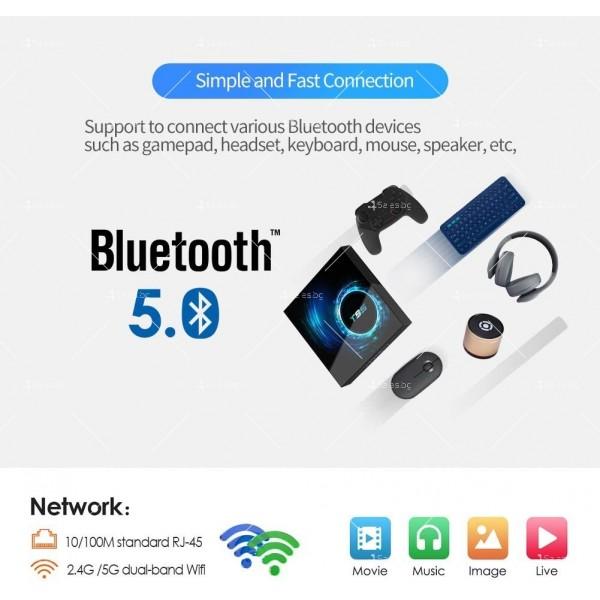 Смарт TV декодер T95 4G+128G, Android 10.0, Allwinner H616, 6K HD, мултиплейър 12