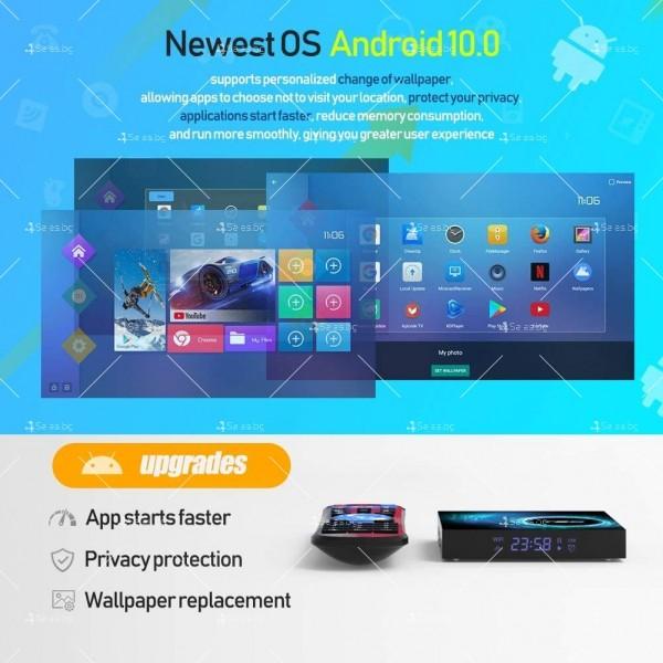 Смарт TV декодер T95 4G+128G, Android 10.0, Allwinner H616, 6K HD, мултиплейър 13