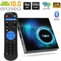 Смарт TV декодер T95 4G+128G, Android 10.0, Allwinner H616, 6K HD, мултиплейър