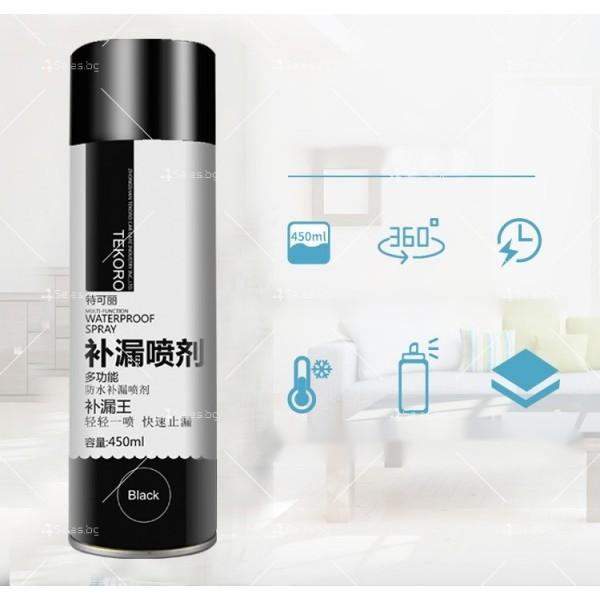 Водоустойчив спрей с отблъскващо водата полиуретаново покритие TV597 2