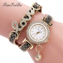 Луксозен кварцов дамски часовник Fan Tee Da W WHATCH6