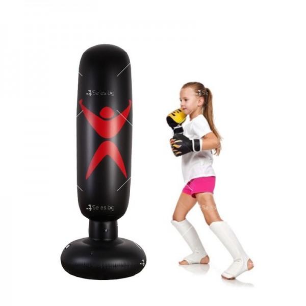 PVC Надуваема боксова круша 160 см, за деца и възрастни, с подсилена основа TV663 5