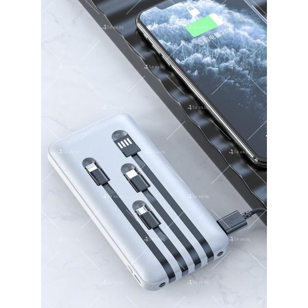 Мултифункционална външна батерия 4-в-1 за Apple, Android, Type-C, 20000 mA TV660 6