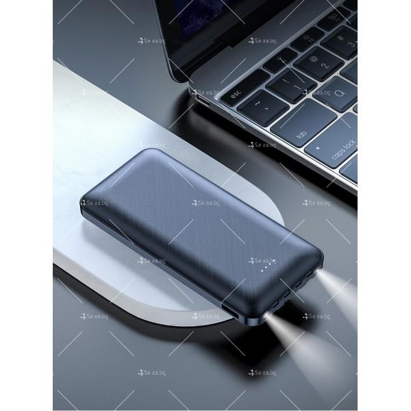 Мултифункционална външна батерия 4-в-1 за Apple, Android, Type-C, 20000 mA TV660 8