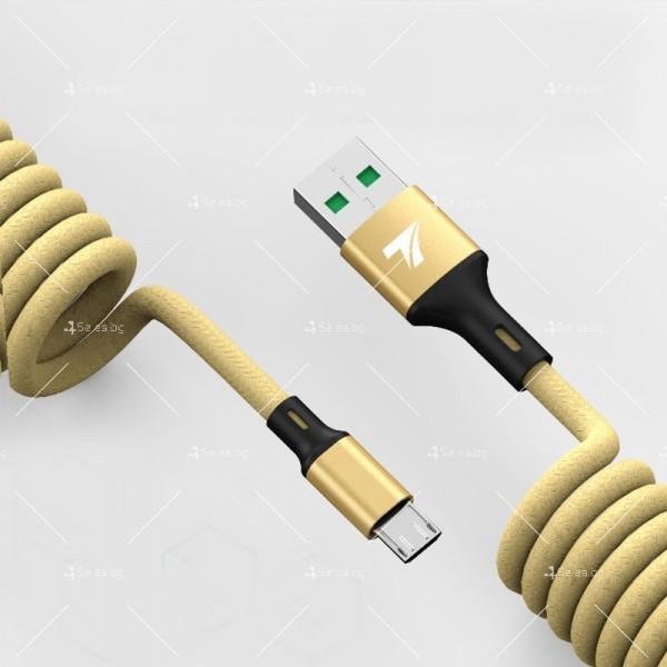 USB Кабел за бързо зареждане Techfuerza SC007 и пренос на данни CA22 6