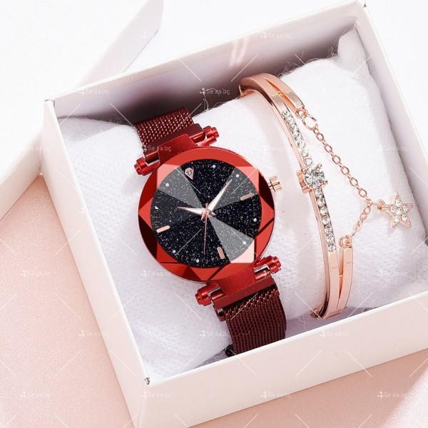 """Луксозен дамски часовник """"звездно небе"""" тип гривна W WATCH8 1"""