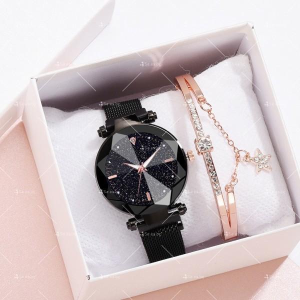 """Луксозен дамски часовник """"звездно небе"""" тип гривна W WATCH8"""