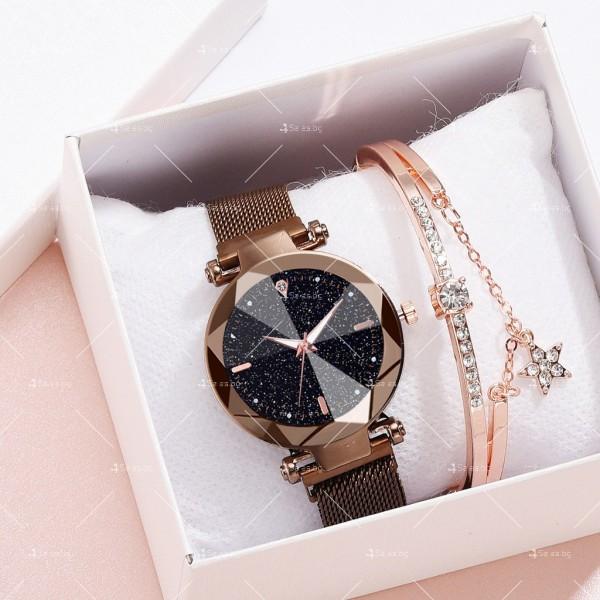 """Луксозен дамски часовник """"звездно небе"""" тип гривна W WATCH8 3"""