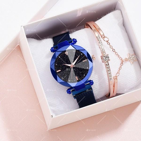 """Луксозен дамски часовник """"звездно небе"""" тип гривна W WATCH8 4"""