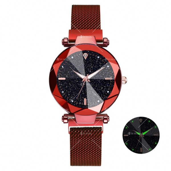 """Луксозен дамски часовник """"звездно небе"""" тип гривна W WATCH8 8"""