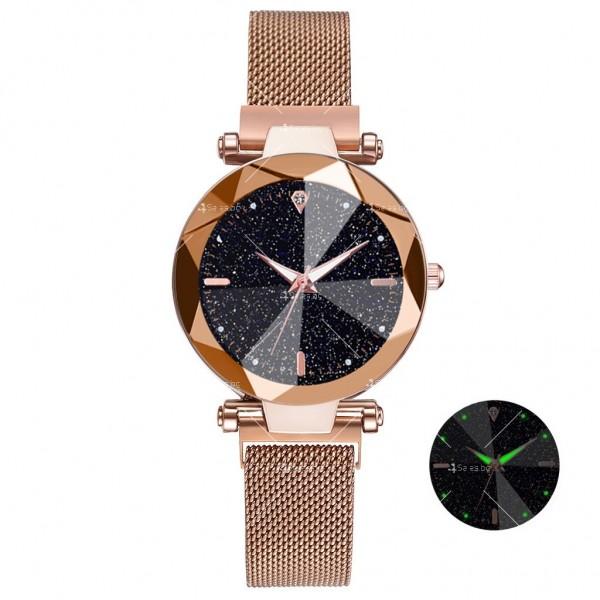 """Луксозен дамски часовник """"звездно небе"""" тип гривна W WATCH8 9"""