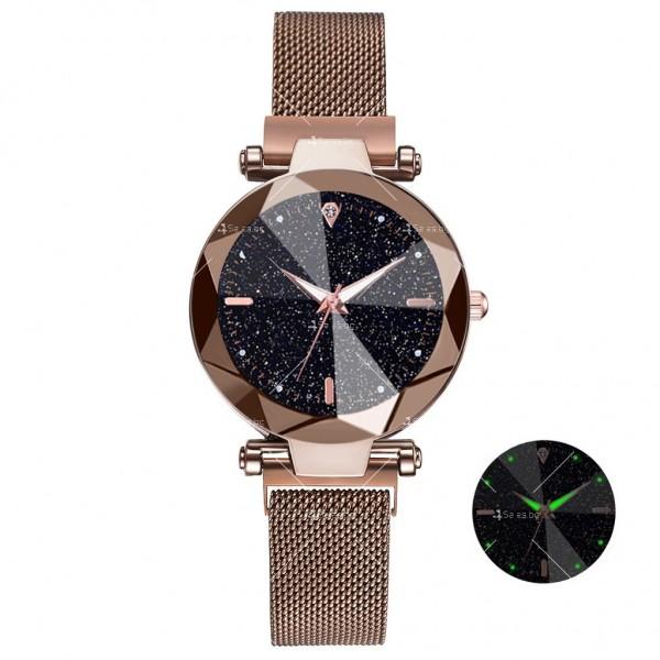 """Луксозен дамски часовник """"звездно небе"""" тип гривна W WATCH8 11"""
