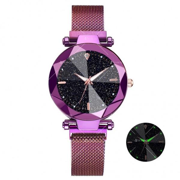 """Луксозен дамски часовник """"звездно небе"""" тип гривна W WATCH8 12"""