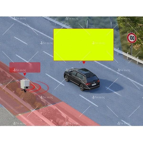 """Автомобилен радар 16-лентов детектор с 1,5 """"LCD дисплей и 360-градусов лазер AC93 6"""