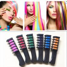 Комплект от 6 цветни стика за еднократно боядисване на коса HZS218