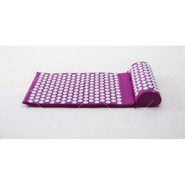 Йога мат с възглавничка с вградени шипове за акупунктурен масаж TV678 15
