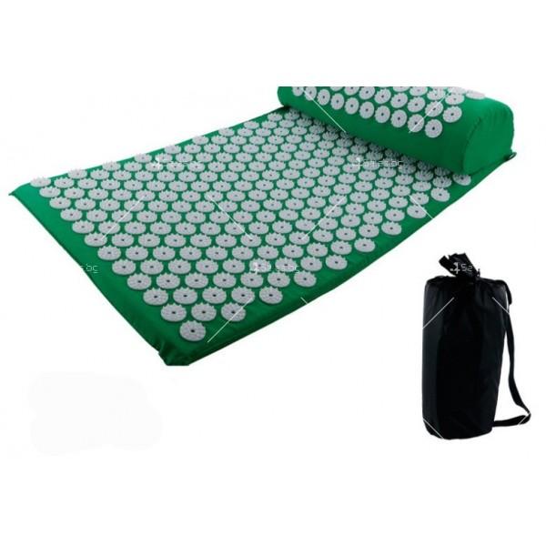 Йога мат с възглавничка с вградени шипове за акупунктурен масаж TV678 18