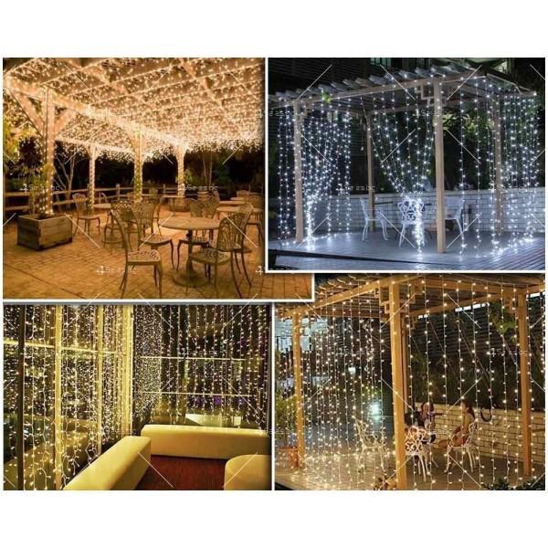 Светеща LED завеса с 400 лампички SD13 4