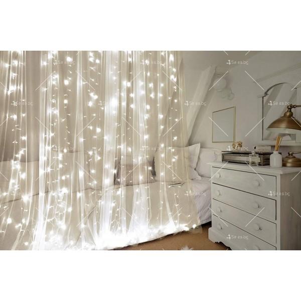 Светеща LED завеса с 400 лампички SD13 7