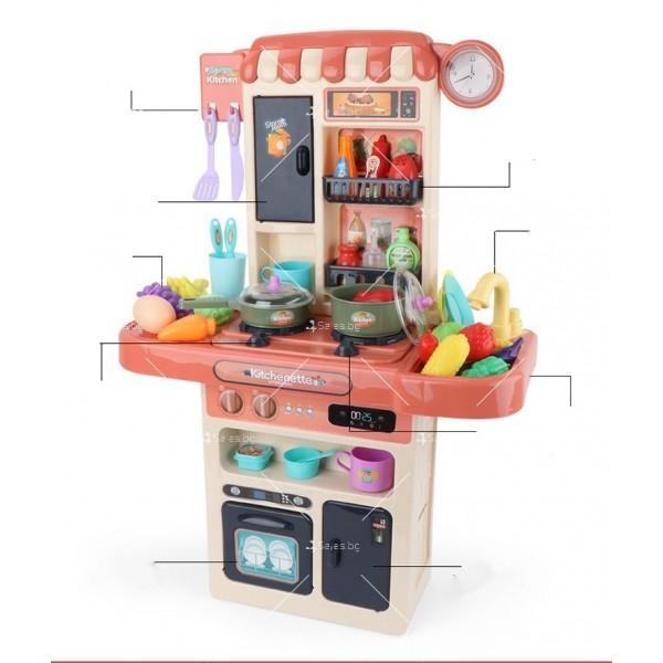 Голям комплект детска кухня с много различни компонента 44pcs WJ24 6