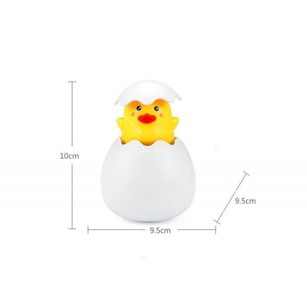 Детска забавна играчка за вана жълто пате в яйце WJ20 3