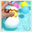 Детска забавна играчка за вана жълто пате в яйце WJ20 6