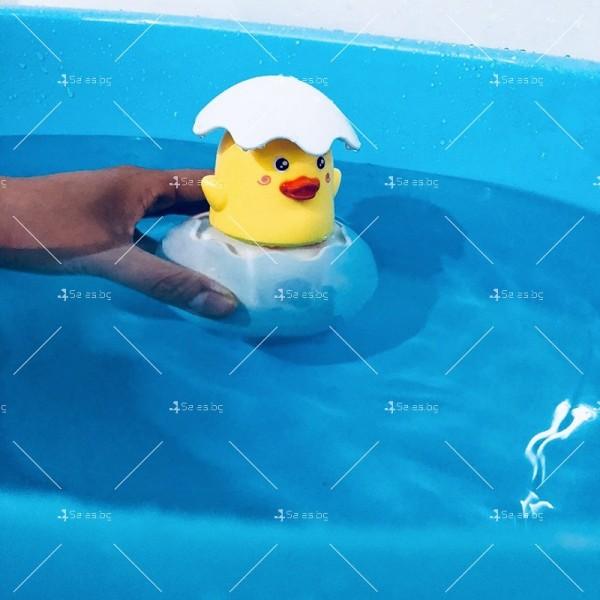Детска забавна играчка за вана жълто пате в яйце WJ20 9