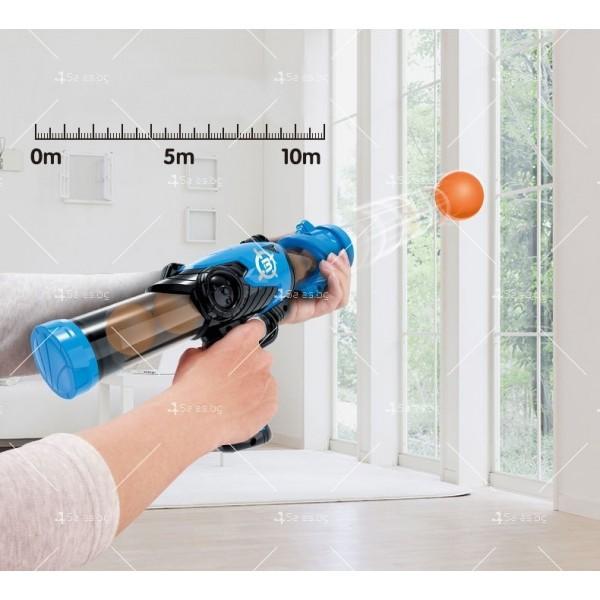 Детска игра с обстрелване на робот с меки топчета и пушка в комплекта WJ21 5