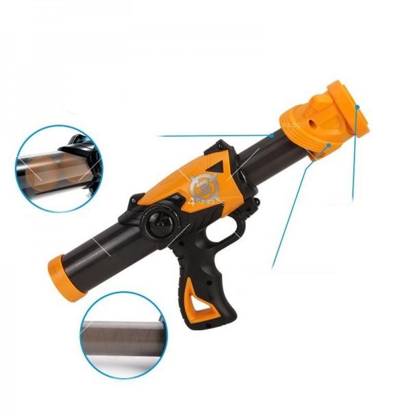 Детска игра с обстрелване на робот с меки топчета и пушка в комплекта WJ21 8