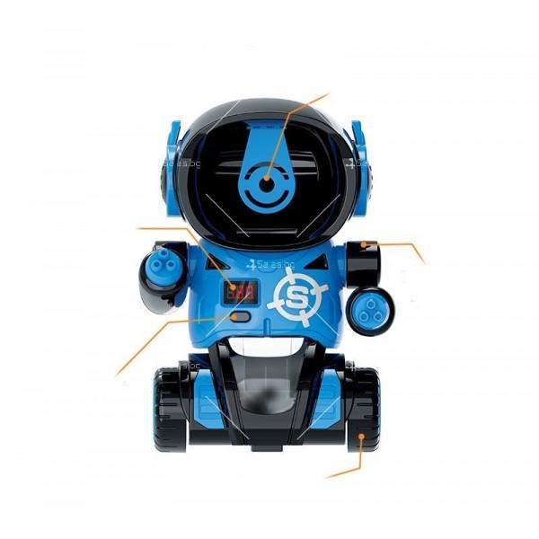 Детска игра с обстрелване на робот с меки топчета и пушка в комплекта WJ21 9