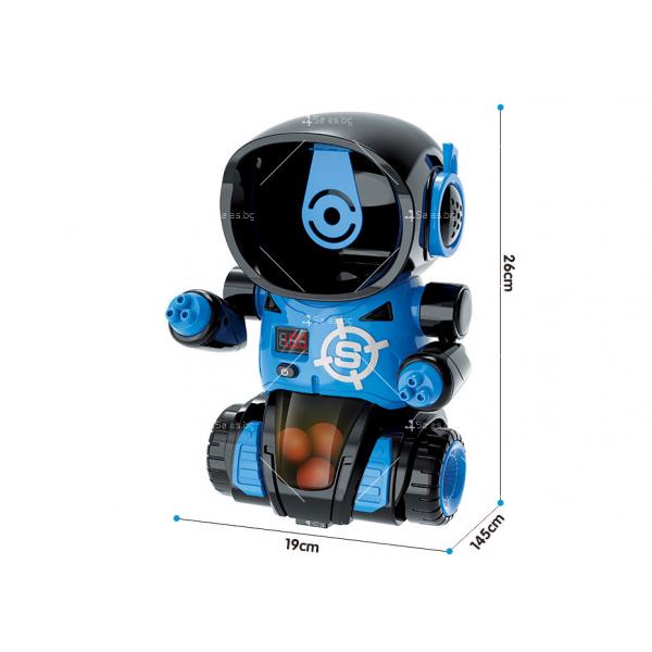 Детска игра с обстрелване на робот с меки топчета и пушка в комплекта WJ21 11