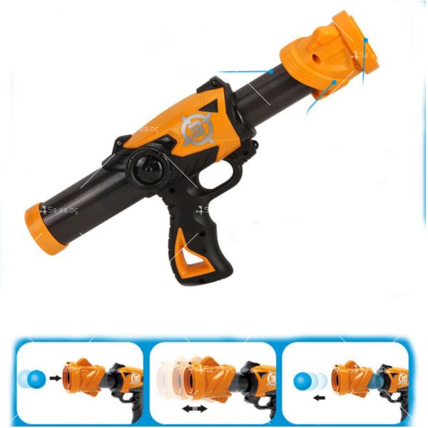 Детска игра с обстрелване на робот с меки топчета и пушка в комплекта WJ21 14