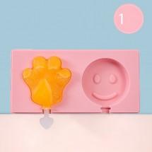 Силиконова форма за сладолед за многократна употреба с пластмасови дръжки TV593