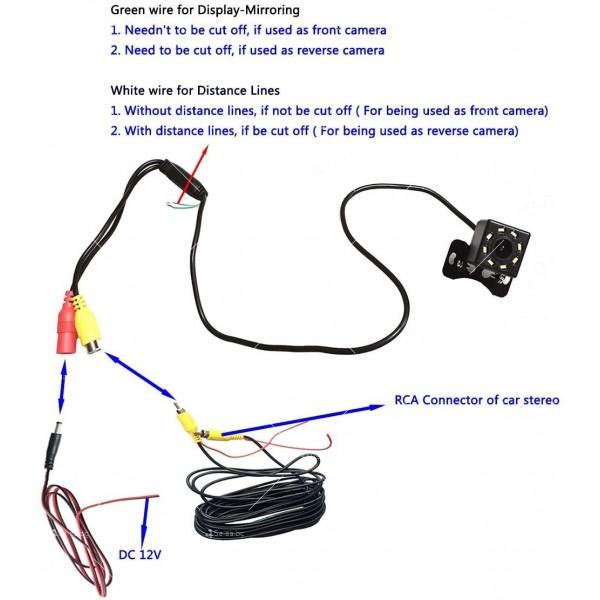 Parking Assistance Rear Camera за задно виждане устойчива на вода PK KAM1 20