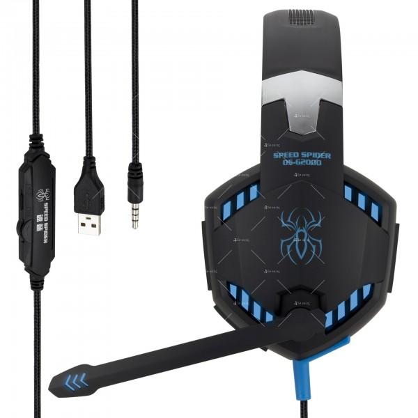 Удобни големи слушалки за игри Speed Spider G2000 - EP5 8