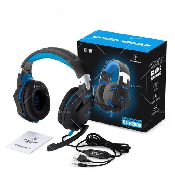 Удобни големи слушалки за игри Speed Spider G2000 - EP5 10