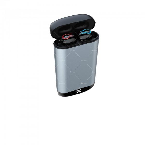 Безжични Bluetooth слушалки с метална кутия за зареждане Q66 TWS - EP7 5