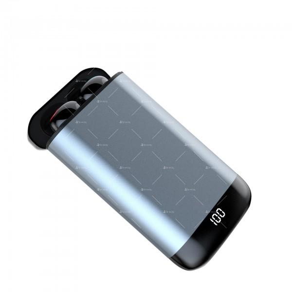 Безжични Bluetooth слушалки с метална кутия за зареждане Q66 TWS - EP7 6